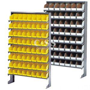 Floor Pick Rack with Storage Bins 6x6
