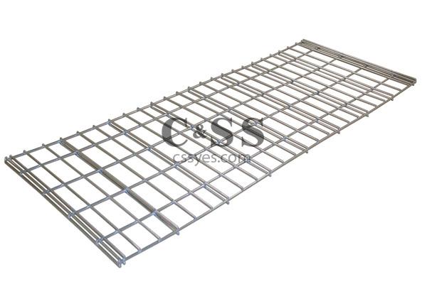 Jaken Shelving Silver Wire Mesh Deck 6