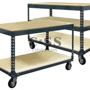 Mobile Boltess Shelving Workbench 6