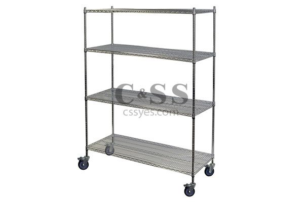 Mobile Chrome Wire Shelving 6