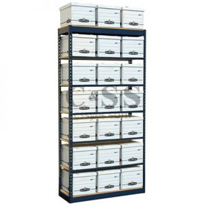 Records Storage Shelving Single High 6L