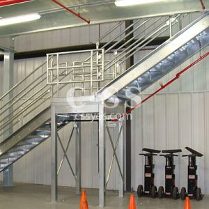 Mezzanine Stairs with Intermediate Landing 6
