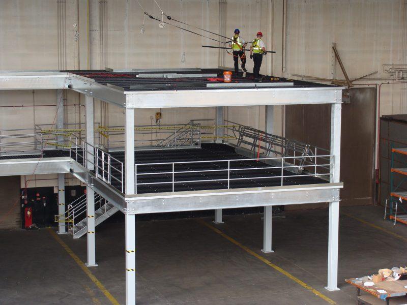 Conveyor and Storage Solutions Mezzanine Installation