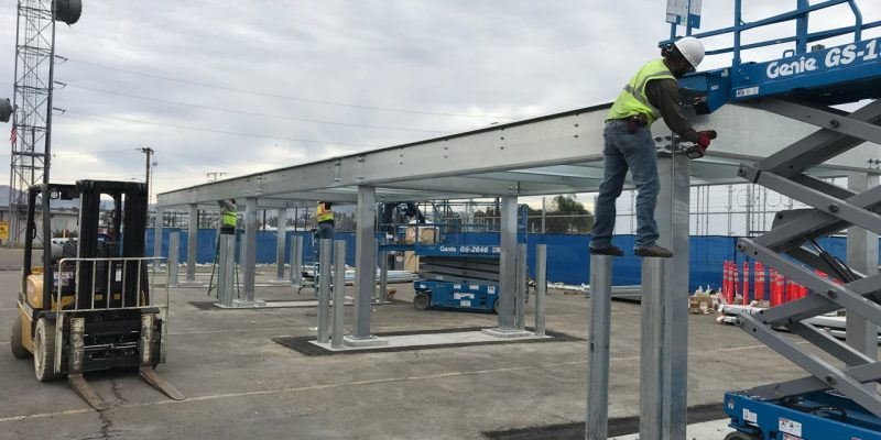 Outdoor Storage Platform & Racks for Public Utility