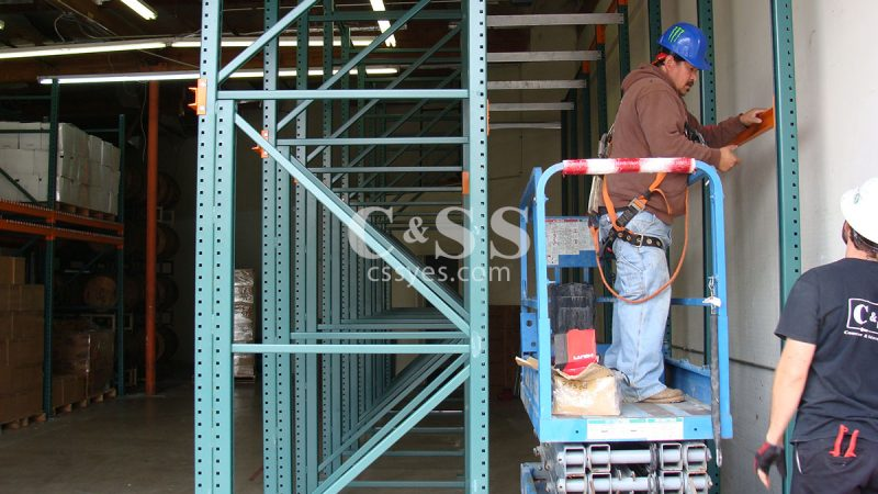 Drive In Pallet Rack Install 12