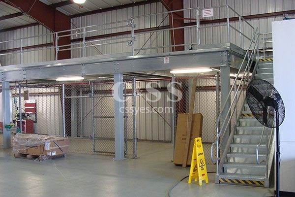 Storage Mezzanine with Stairs 6