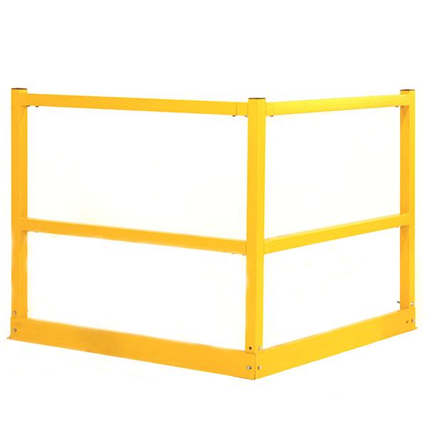 Handrail kick plate