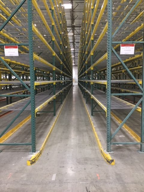 warehouse forklift guide rails