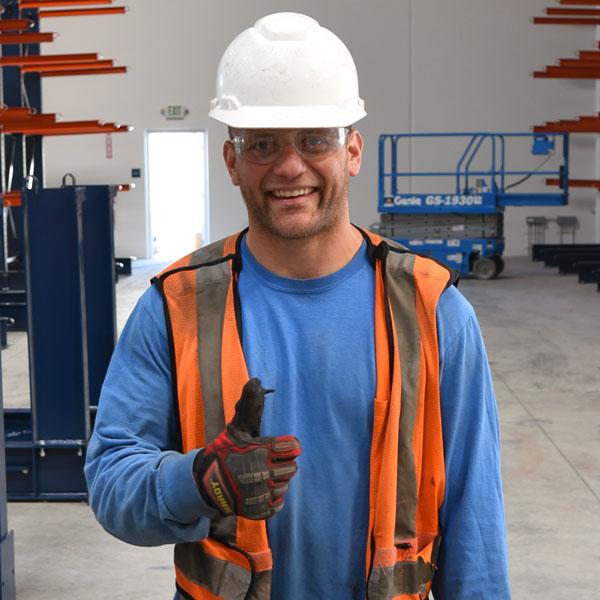 Pallet Storage Rack Installer Nathan Poucher
