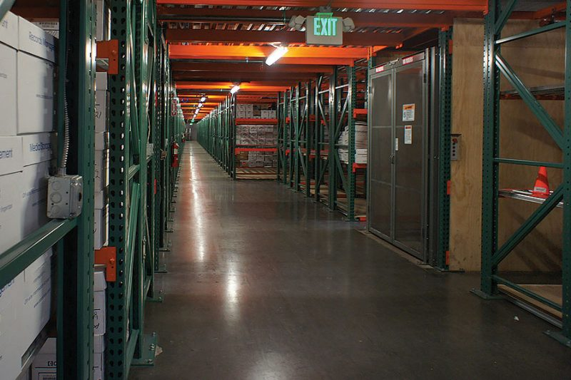 High Density Records Storage Catwalk