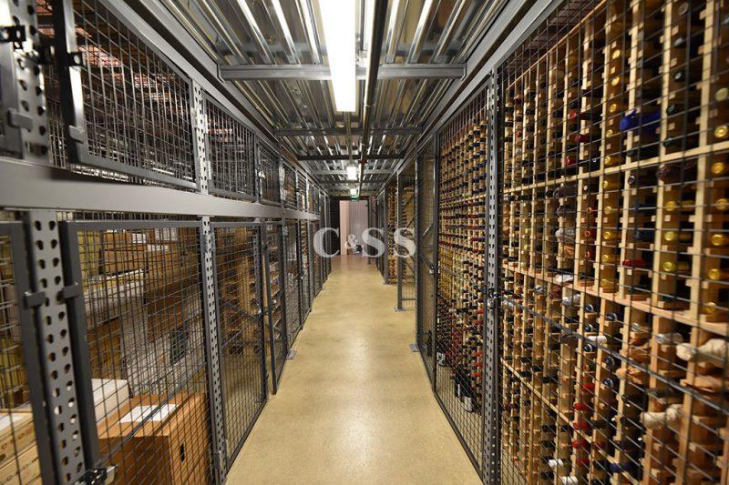 Sorrento Valley Wine Company Aisle Rack Design For Wine Storage