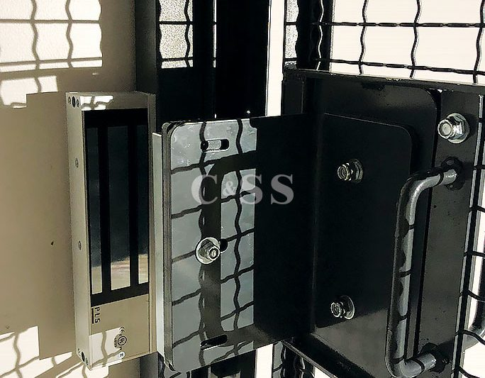 Installation Of Secure Wire Server Cage With Mag Lock