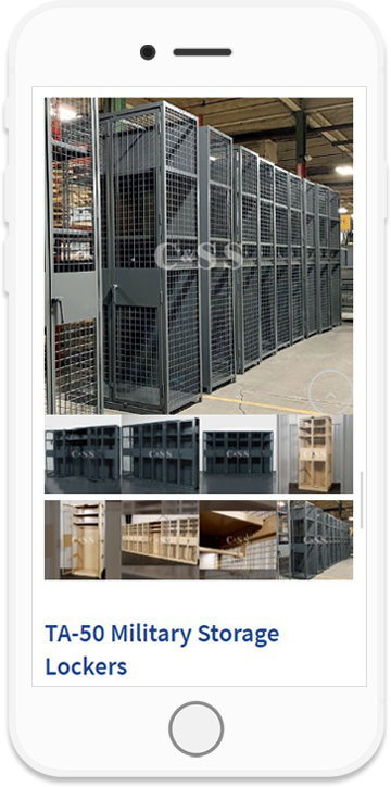 Purchase WireCrafters Storage Lockers from any Mobile Device
