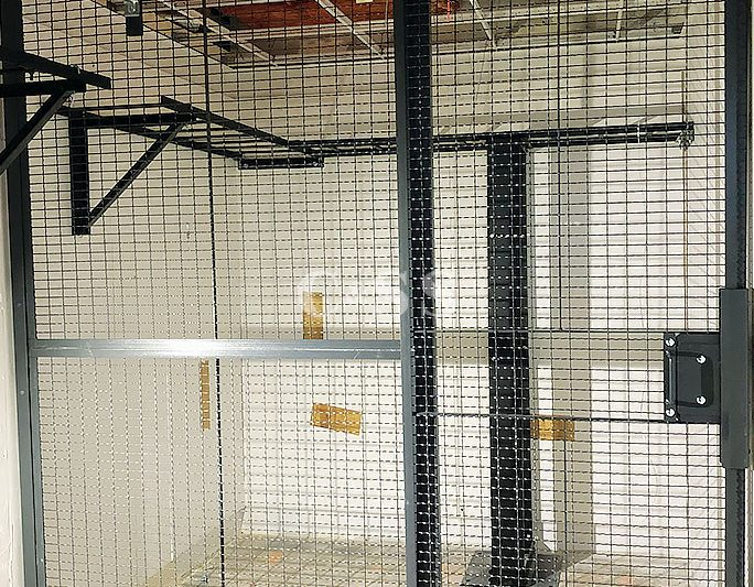Server Cage Wire Partition For Banking Fire Safety Regulations