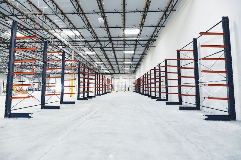 Cantilever And Pallet Rack Layout For Oceanside Door Company