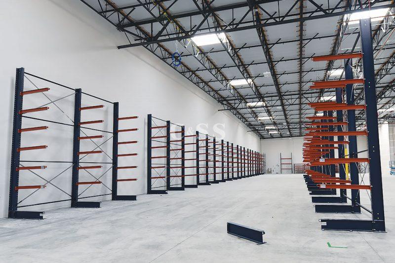 Cantilever Racks For Oceanside Business Lumber Or Pipe Storage
