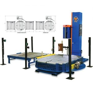 Inline Automatic Pallet Wrapping Machine