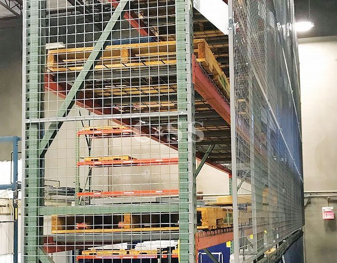 Pallet Racking With New Fall Protection Steel Mesh