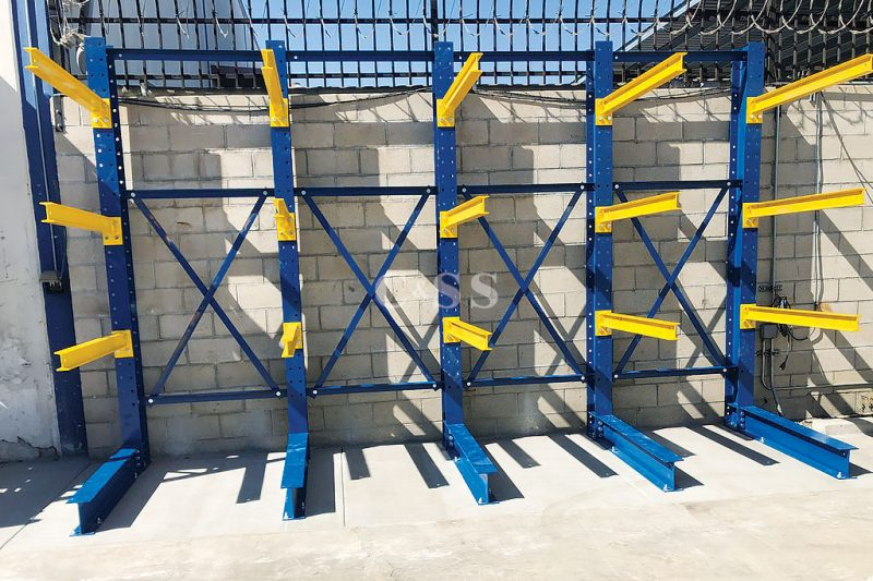 Structural Cantilever Racking For Storage Of Long Pipes