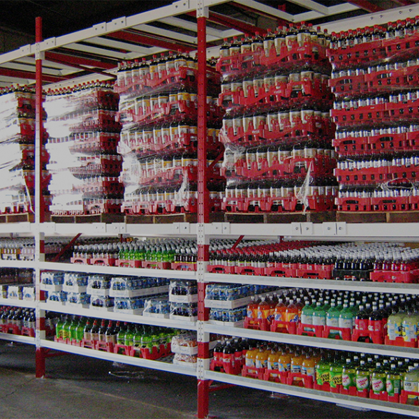 Case Flow Storage Rack To Store Food And Beverage Products