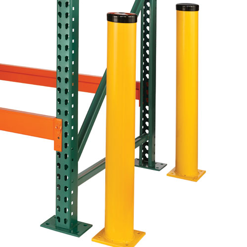 Pallet Rack Bollards Provides Indoor Outdoor Protection Safety
