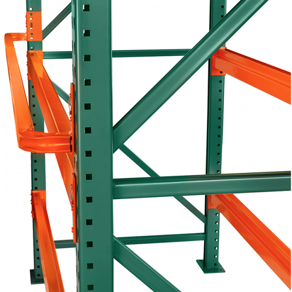 Pallet Racking Backstop Tube And Structural Design For Forklifts