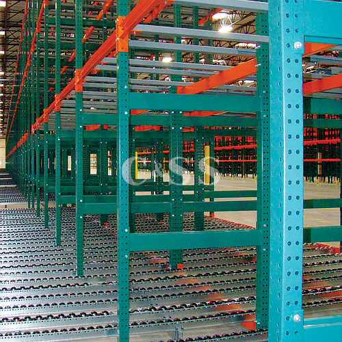Conveyor Rack Dynamic Storage Moves Pallets Quickly