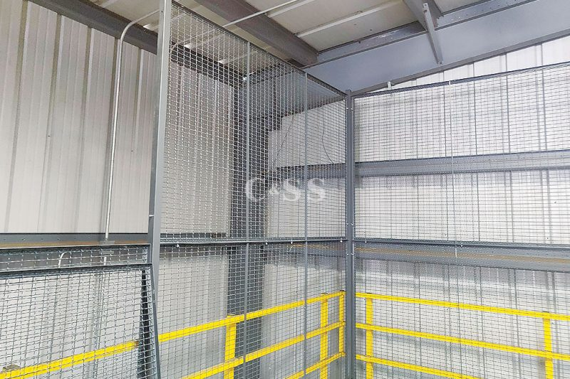 Cage Outfitted With A Locking Sliding Door