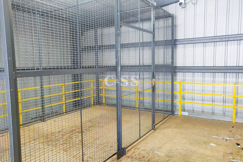 Secure Storage Cage For Coast Guard Boat House
