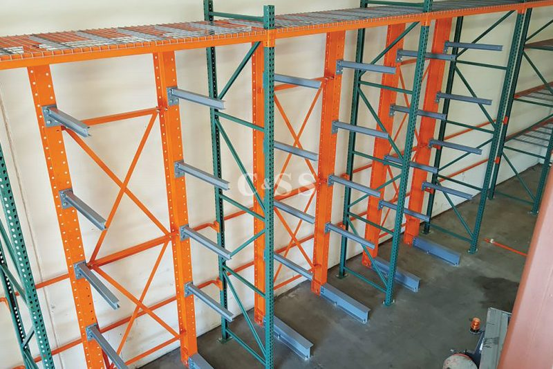 Cantilever Pallet Racking For Warehouse Elevator Parts