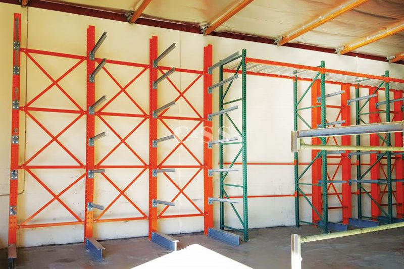 Cantilever Pallet Racking Secures Elevator Products