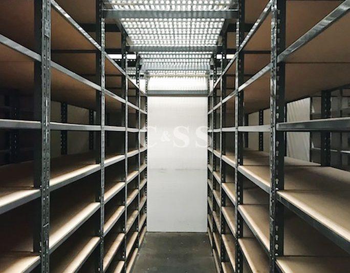 Catwalk Storage For Auto Parts Business