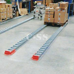 Floor Mounted Full And Split Roller Pallet Flow