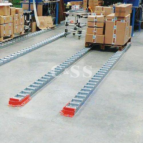 Floor Mounted Full And Split Roller Pallet Flow