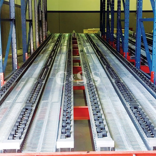 Heavy Duty Roller Pallet Flow Rack With Speed Controllers