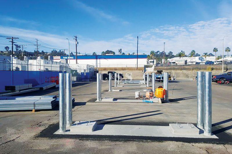 Outdoor Storage Platform For Energy Storage Company