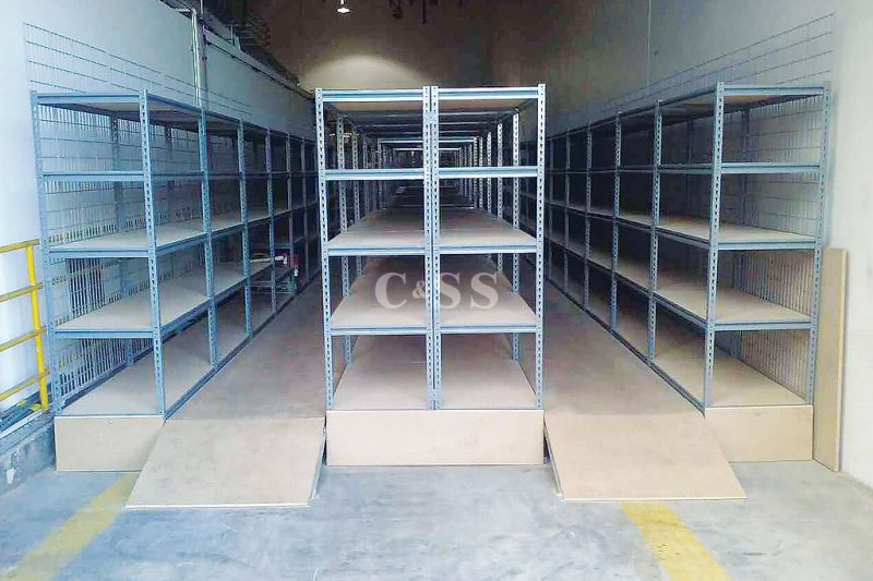 Catwalk Storage Shelving Helps With Earthquake Safety