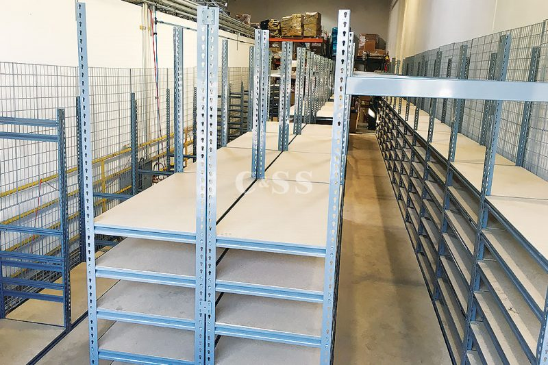 Catwalk Storage Shelving To Protect Power Supplies