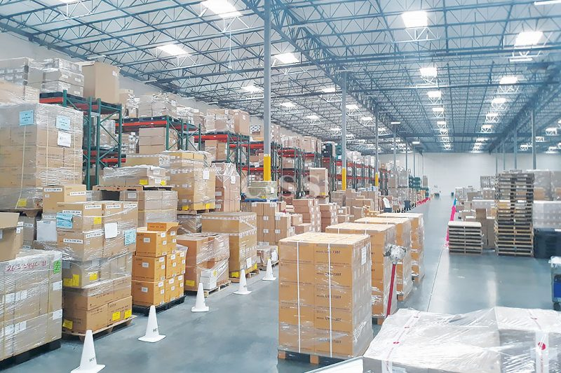 Electronic Manufacturer Uses Pallet Racking and Shelving