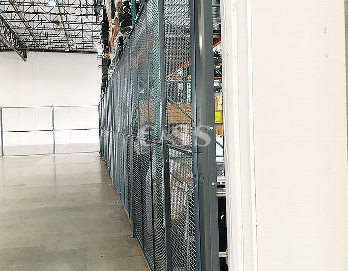 High Fence Wire Partition for Warehouse Security