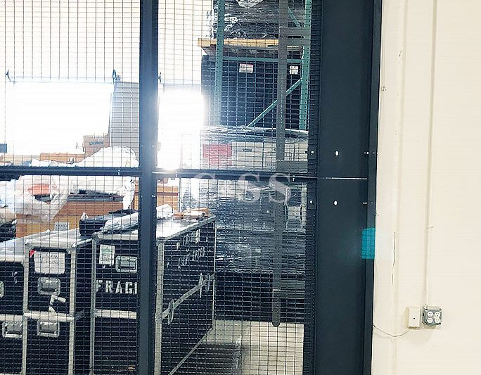 High Fence Wire Partition to Secure Materials