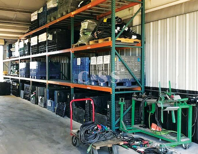 Pallet Racking Protects Equipment Rental Company Materials