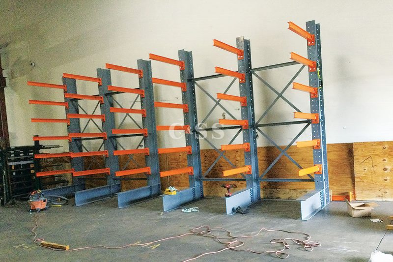 Steel Cantilever Rack for Earthquake Safety
