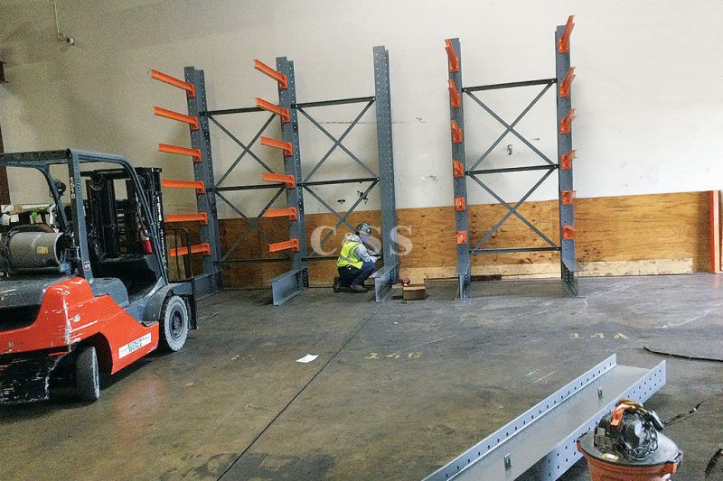 Steel Cantilever Rack for Employee Safety