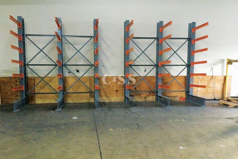 Structural Steel Cantilever Rack for Forklift Safety