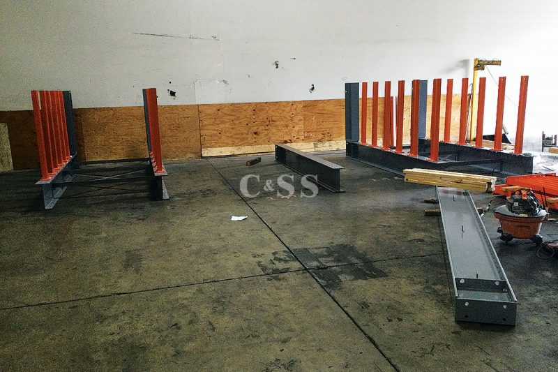 Structural Steel Cantilever Racking Columns for Warehouse