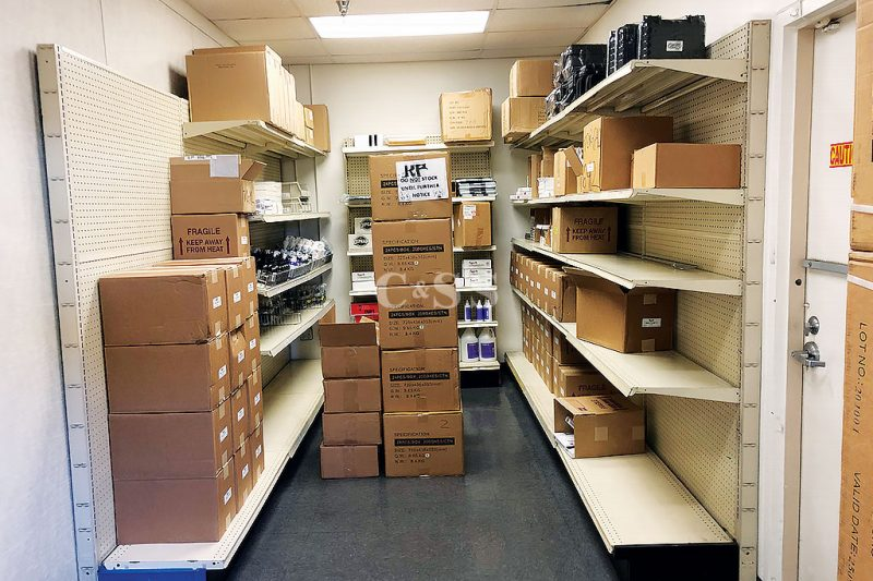 Wire Partition Securing Warehouse Tattoo Supplies