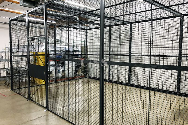 DEA Storage Cage with Ten Gauge Square Woven Wire