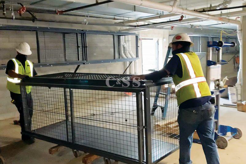 Installer Rolling in Tenant Storage Lockers