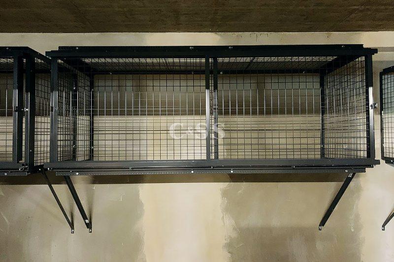 Steel Lockers Securing Residents Personal Items